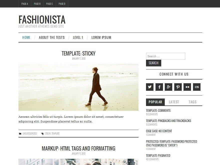 Русская тема для WordPress - Fashionistas