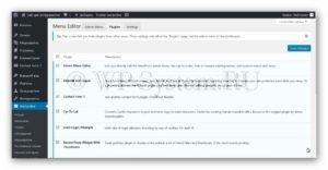 Отключение плагинов в списке WordPress
